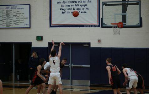 Boys Silent Night basketball game photos